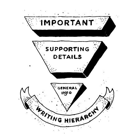 Inverted pyramid illustration